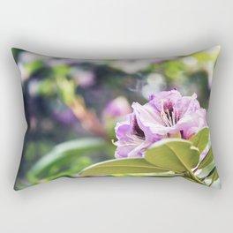 Pink Azaleas Flower - Rhododendron Floral Art Rectangular Pillow