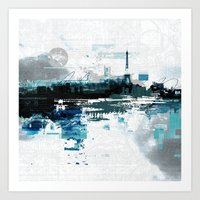 skyline Art Prints featuring Skyline by girardin27