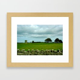 Speeding By The Irish Countryside Framed Art Print