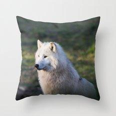 Canis Lupus Arctos II Throw Pillow