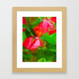 Pink Roses in Anzures 5  Abstract Polygons 1 Framed Art Print