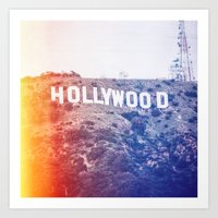 hollywood Art Prints featuring Hollywood by Laura Ruth
