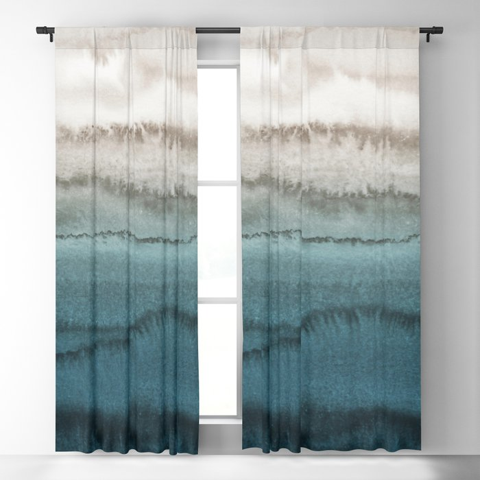 WITHIN THE TIDES - CRASHING WAVES TEAL Blackout Curtain