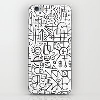 writing iPhone & iPod Skins featuring ALIEN WRITING by Matthew Taylor Wilson