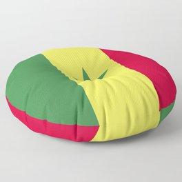 Senegal flag emblem Floor Pillow