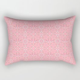 likely star shapes pattern on the pink background Rectangular Pillow
