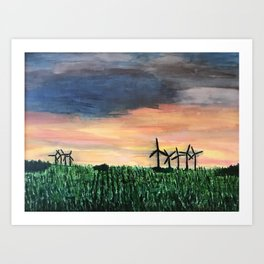 Midwest Sunset Art Print