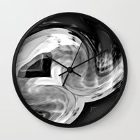 angel wings Wall Clocks featuring Angel Wings by TheDawn Marie™