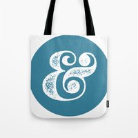ampersand Tote Bags featuring Ampersand by AndyGD