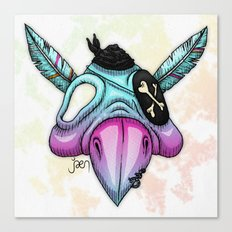 Psittaskull Canvas Print