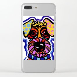 Rover Terrier Dog Airedale Wheaton Lakeland Kerry Schnauzer Fox Puppy Pet Animal Clear iPhone Case