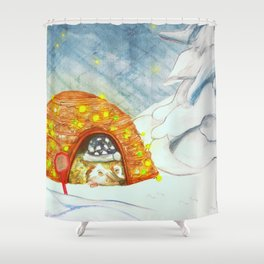 Santa Stop Here Shower Curtain