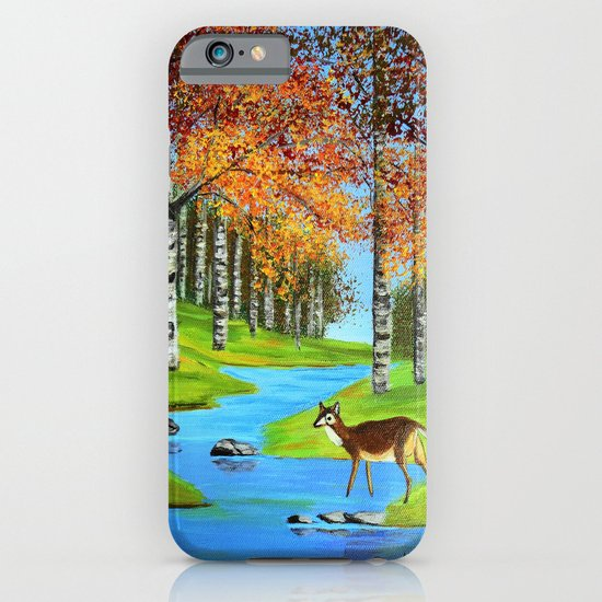 Birch trees in the fall  iPhone & iPod Case