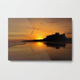Bamburgh Castle Sunrise Metal Print