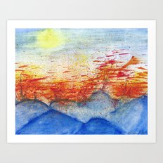 Autumn Wind on Blue Ridge Art Print