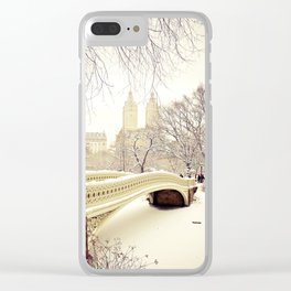 New York City Snow Wonderland Clear iPhone Case