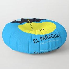 El Paraguas Loteria Mexican Pop Art Floor Pillow