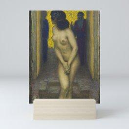 Susanna in the bath, masterpiece nude portrait by Franz Von Stuck Mini Art Print