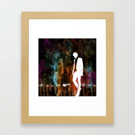 The invisible man... Framed Art Print