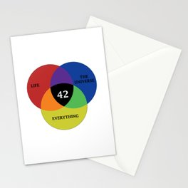 42 is the answer Stationery Cards