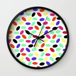 Jellybeans Pattern Wall Clock