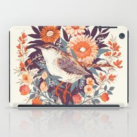 bird iPad Cases featuring Wren Day by Teagan White