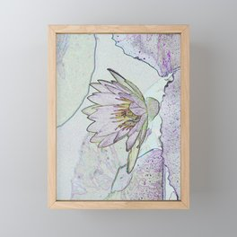Waterlily Abstract Framed Mini Art Print