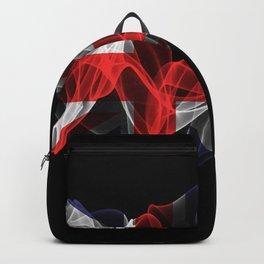 Union Jack Smoke Flag on Black Background, Union Jack flag Backpack