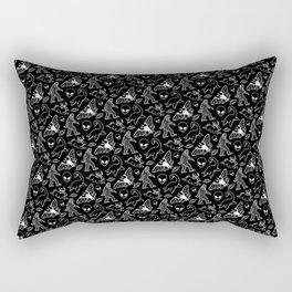 Cryptid Pattern: White Lines Rectangular Pillow