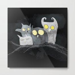 Juarez Owls Metal Print