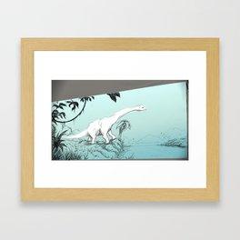 JOURNEY TO THE ISLAND. Framed Art Print