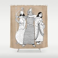 archer Shower Curtains featuring Archer by Tom Tierney Studios