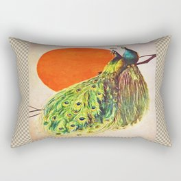 Peacock Sun Rectangular Pillow