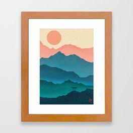 Meditating Samurai Framed Art Print