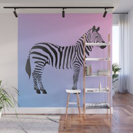 Pastel Zebra Wall Mural