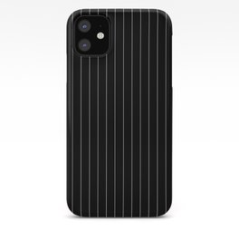 Black White Pinstripes Minimalist iPhone Case
