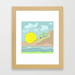 Sunrise , abstract Framed Art Print