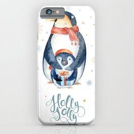 Christmas penguin #2 iPhone Case