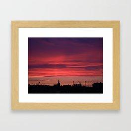 A Rooftop Glance Framed Art Print