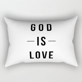 God is Love White Rectangular Pillow