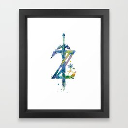 Breath of the Wild Framed Art Print