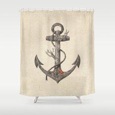 Lost at Sea - mono Shower Curtain