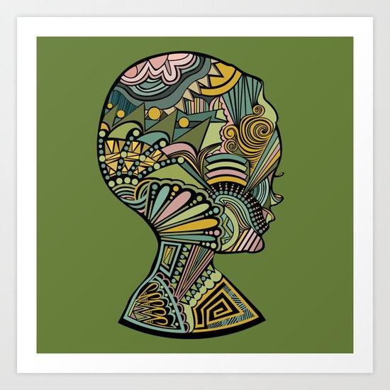 Beauty of the mind Art Print