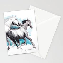 Horses (Mom&kid) Stationery Cards