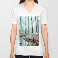woodland V-neck T-shirts featuring Gather up Your Dreams by Olivia Joy StClaire