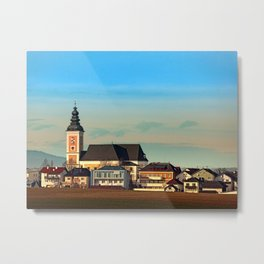 The village church of Sankt Peter am Wimberg I | architectural photography Metal Print