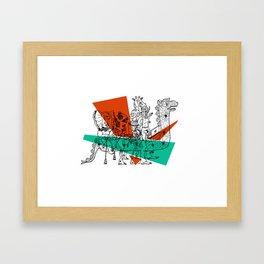 Adjacent Fourmula Framed Art Print