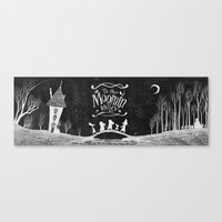 moomin Canvas Prints featuring To the Moominvalley by CottonValent