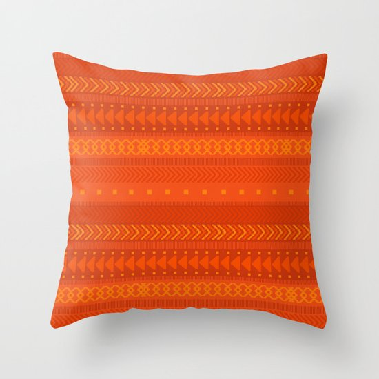 Lava - tribal geometrics Throw Pillow