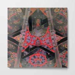 Firy Upward Pattern Metal Print